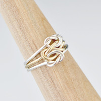 Wedding Sale Triple Love Knot Ring - Silver Love Knot - Stacker Ring - Family Ring - Promise Ring - Sterling Silver - Bridesmaid Jewelry