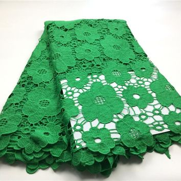 African Cotton Lace Hot Sell  Color african cord Lace /guipure lace Fabrics High Quality