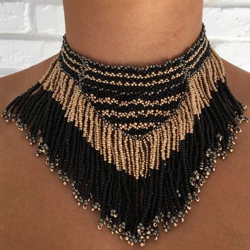 Nightfall Glam Bead Necklace