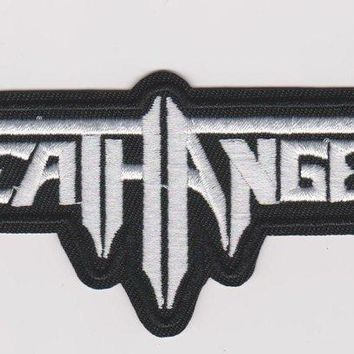 Death Angel Iron-On Patch White Letters Logo