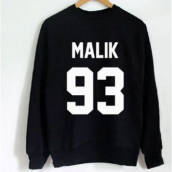 DCCKR2 Letter sweater fashion long-sleeved shirt men and women with the same paragraph MALIK 93