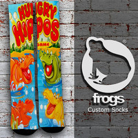 Hungry Hippos Elite Socks, Custom socks, Personalized socks