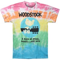 Woodstock Men's  Woodstock Banded Tie Dye T-shirt Multi