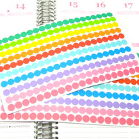 Mini Rainbow Dots Planner Sticker for Erin Condren Life Planner (ECLP) Reminder Sticker
