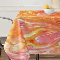 Rosie Brown Falling Petals Tablecloth