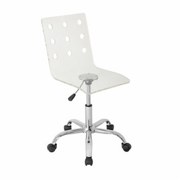 Swiss Acrylic Office Chair Clear by Lumisource