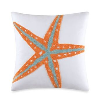 Tufted Starfish Throw Pillow