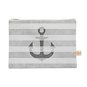 "Monika Strigel ""Stone Vintage Anchor Gray"" White Grey Everything Bag"