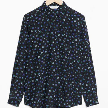 Silk Shirt - Black Floral - Blouses - & Other Stories US