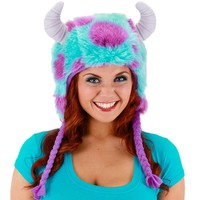 Disney / Pixar Monsters University Sully Hoodie Hat Costume - Adult (Blue/Purple)