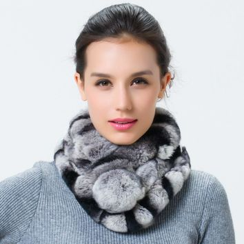 Womens real fur scarf