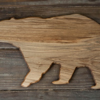 296. Bear Shaped, Ambrosia Maple Cutting Board