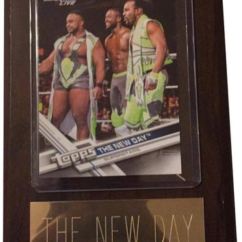 """The New Day 4"""" x 6"""" WWE Wrestling Plaque"""