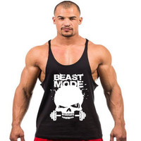 New Bodybuilding Golds Gym Singlet  Skull NO PAIN NO GAIN Fitness Muscle Men Tight Workout Tank top musculation