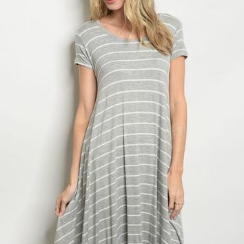 Tara Striped Swing Dress