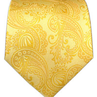 Twill Paisley - Golds from TheTieBar.com - Wear Your Good Tie Everyday
