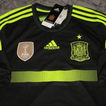 Sale!! Adidas Spain Away Soccer Jersey World Cup Football Shirt Espana Size Large Free