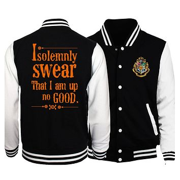 Trendy I Solemnly Swear that I am Up To No Good Baseball Jackets Men Hogwarts/high quality/Star Wars/V For Vendetta 2018 Spring Coat AT_94_13