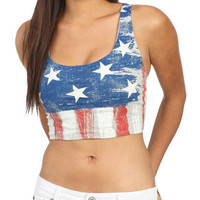 Americana Crop Tank | Shop Tops at Wet Seal
