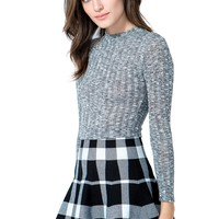 Checked Out Plaid Sweater Skirt