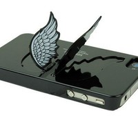 Designer Angel Wing Holder Ice-cream Case&Cover For iPhone 4 /4S