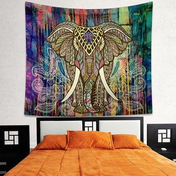 Adeeing Indian Decor Mandala Tapestry Wall Hanging Hippie Throw Bohemian Dorm Bedspread Table Cloth Curtain