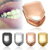 ac DCCKO2Q GENBOLI New Rock Hip Hop Jewelry Single Tooth Caps Teeth Top Tooth Accessories Gold Grillz Dental Grills Body Jewelry