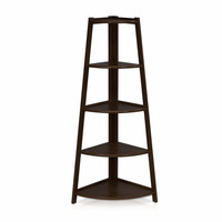 Furinno Furinno Yaotai 5-Layer Corner Ladder Garden Shelf Espresso