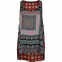 Red scarf print vest top - cami / sleeveless tops - tops - women