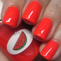 Neon Shimmer Jelly Watermelon Nail Polish