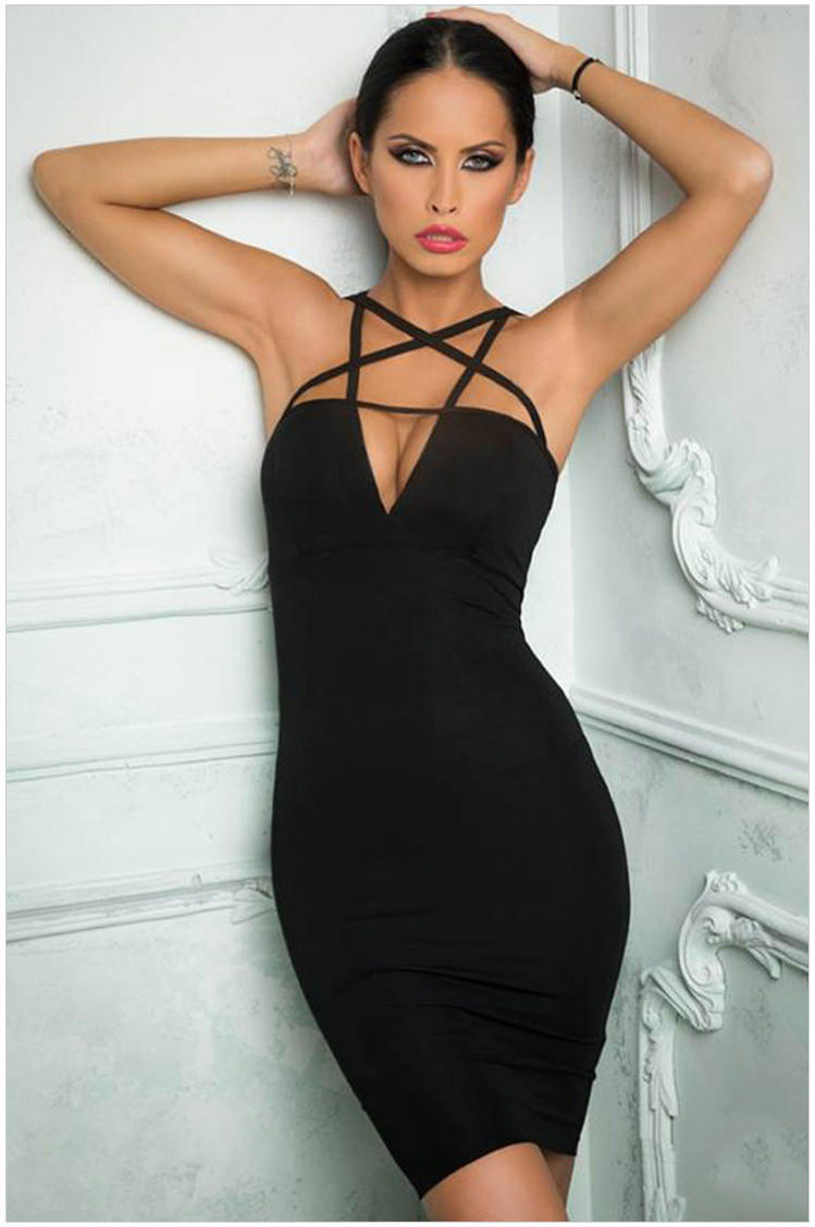 Closet triangle cut out back dress - Black Cutout Criss Cross Zip Back Bodycon Dress Full Size Full Size