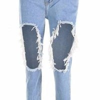Ripped Knee Distressed Skinny Jeans