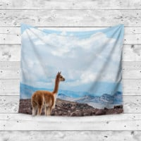 """""""Lama Outlook"""" Looking Into the Distance Wall Tapestry"""