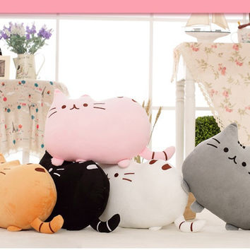 Plush Stuffed Animal Doll Talking Anime Toy Cat Pillow
