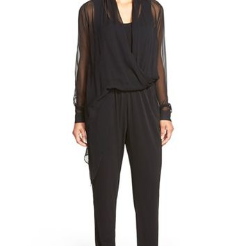 Women's Kobi Halperin 'Anastasia' Mixed Media Jumpsuit,