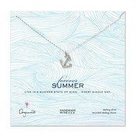 Dogeared Forever Summer Silver Anchor Necklace at Aquaruby