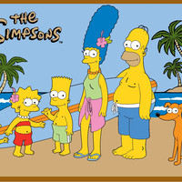 Fun Rugs Simpsons-MP Collection At The Beach Area Rug