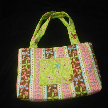 Dragon fly diaper bag/tote bag, Quilted diaper bag