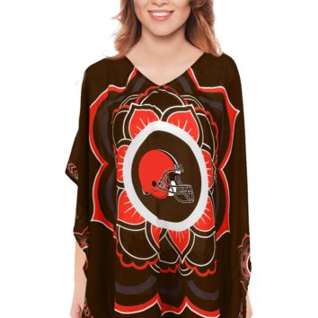 Limited Edition, Officially Licensed Cleveland Browns Caftan One Size / Brown