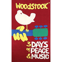 Sunshine Joy Woodstock Music Festival Tapestry Beach Sheet Hanging Wall Art - Huge 60x90 Inches