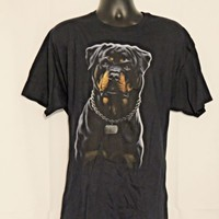 Rottweiler Tee Shirt Black Size  XL   Fruit of the Loom