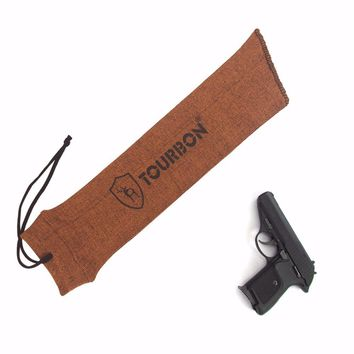 Tourbon Gun Accessories Polyester Silicone Treated Knit Pistol Firearm Socks Tactical Fishing Reel Cover Gun Protector Shooting