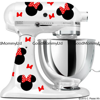 Minnie Mouse Inspired Decal Kit - For Mickey Mouse Fans - Vinyl Decals for your KitchenAid Stand Mixer