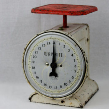Vintage Way Rite 25 Pound Kitchen Scale From Riverrat Antiques