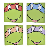 Nickelodeon Teenage Mutant Ninja Turtles Canvas Wall Art (4-Piece)