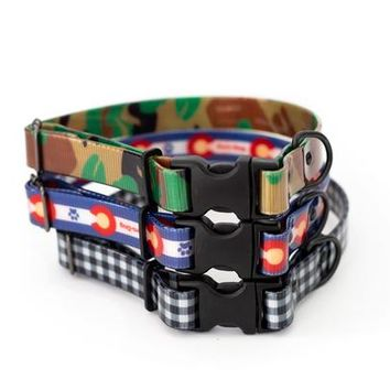Affordable Luxury Durable TPU Coated Nylon Quick Release Buckle Dog Collar Made in USA