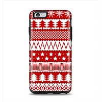 The Red and White Christmas Pattern Apple iPhone 6 Plus Otterbox Symmetry Case Skin Set