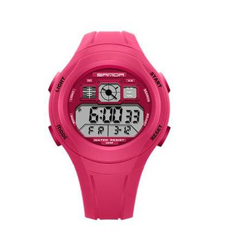 SANDA Children Watches Cute Watches For Girls Boys Rubber Children's Digital LED Wristwatches Reloj relogio masculino Saat