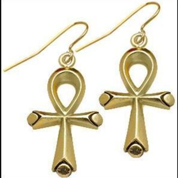 Egyptian Ankh 2-sided earrings - 7236
