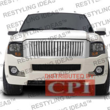 Ford 2007-2009 Ford Expedition Chrome Vertical Bar Abs Grille Performance